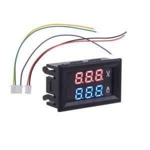 0.28 inç 100V 50A Çift LEDli Kırmızı Voltmetre ve Mavi Ampermetre