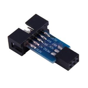 AVRISP USBASP STK500 için 10 Pin i 6 Pine Dönüştürücü Kartı