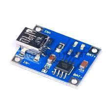 TP4056 Akım Korumalı 1A Lipo Batarya Şarj Modülü (Mini USB)