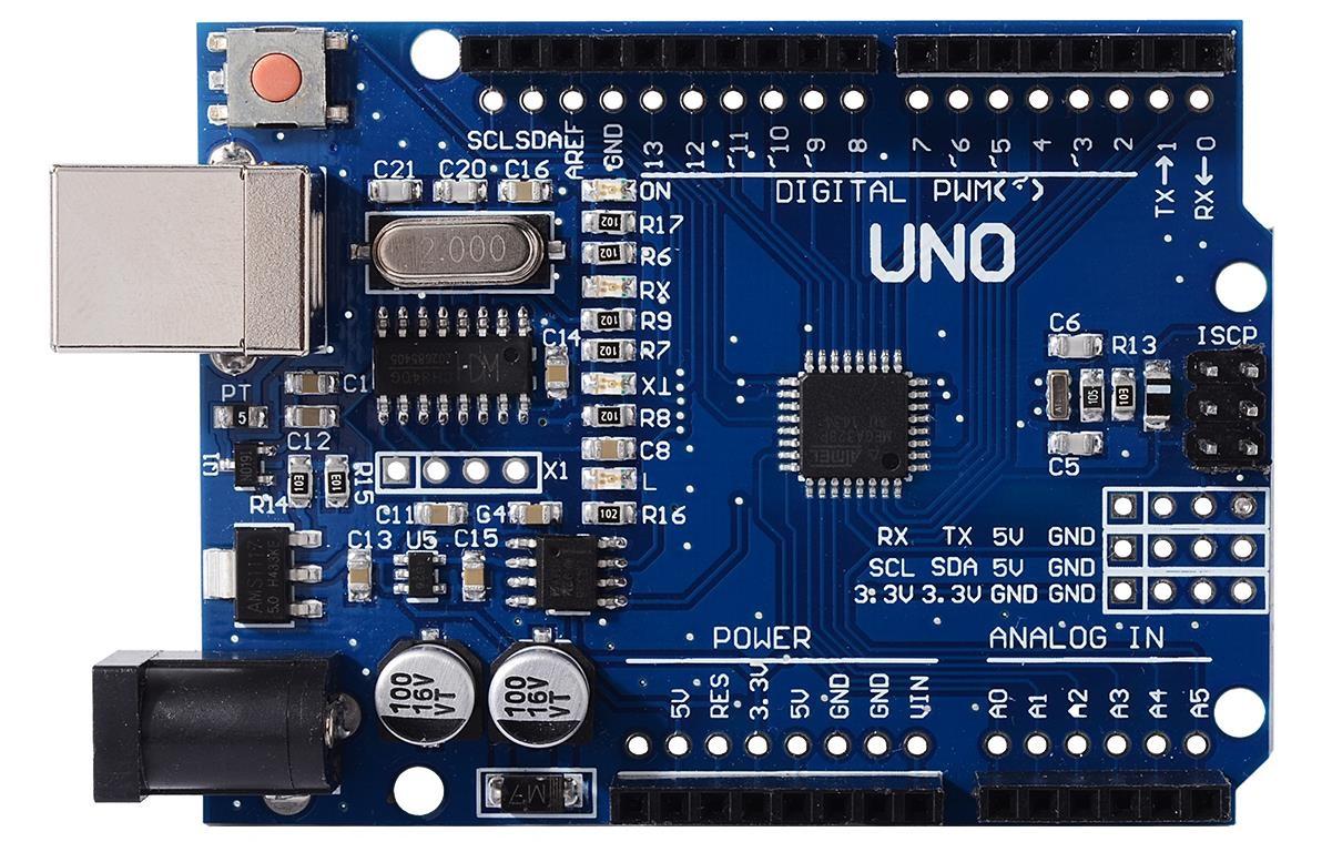 Arduıno Uno R3 Geliştirilmiş CH340 CHİP (Usb Kablo Dahil)
