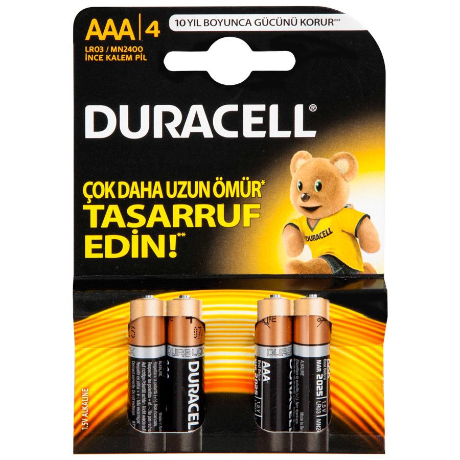 Duracell AAA Pil 4 lü