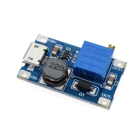 MT3608 Micro USB li 2V-24V u 5V 9V 12V 28V a 2A LM2577 DC-DC Ayarlanabilir Gerilim Yükseltici Modülü