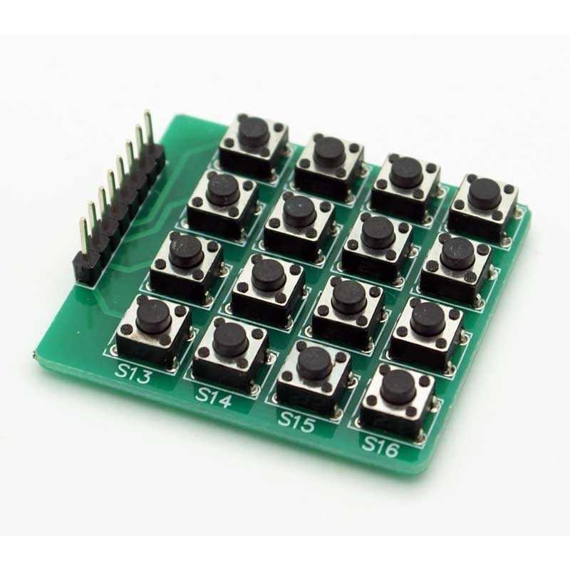 16 Butonlu 4x4 Matrix Tuş Takımı