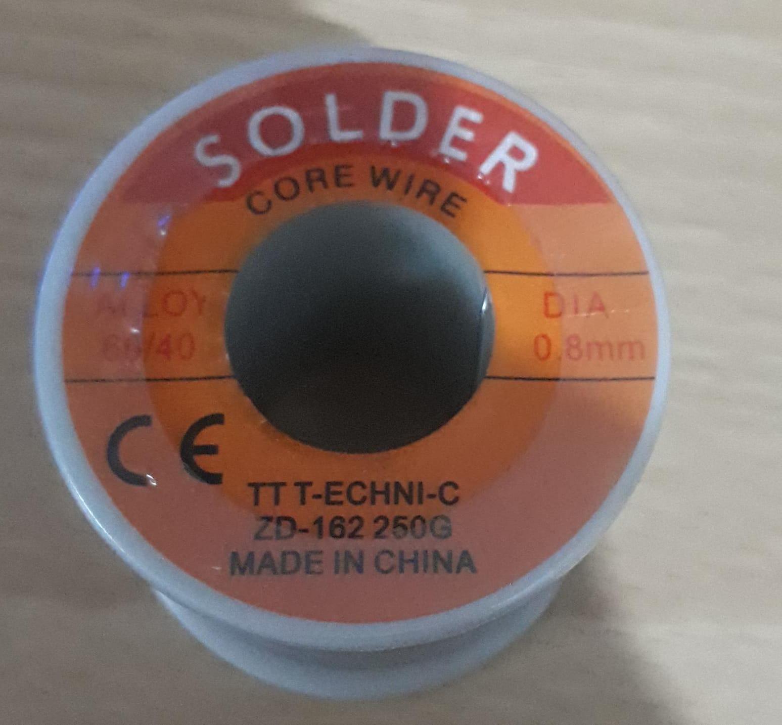 TT T-ECHNI-C ZD-162 250gr 60/40 0 8mm Solder Lehim
