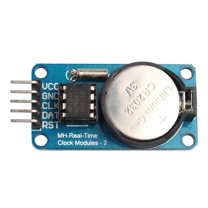 DS1302 RTC Gerçek Zamanlı Saat Devresi Modülü (Batarya Dahil)
