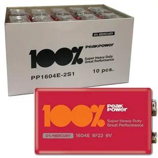 100Z Peakpower 9 Volt Pil