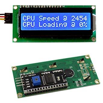 LCD1602 (IIC I2C Haberleşmeli ve Mavi Arka Işıklı)