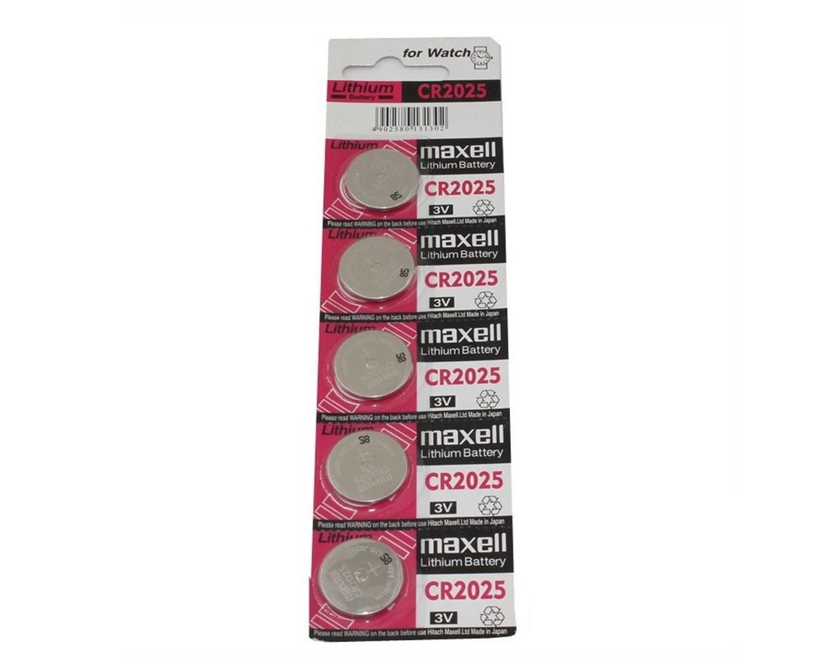 Maxell CR2025 Pil 5li Paket