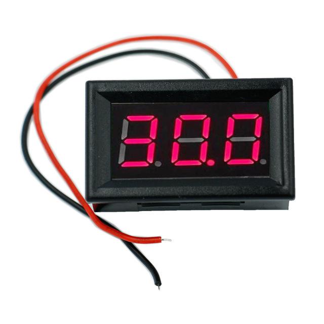 0.56 inç 0 100v 3 Kablolu DC Kırmızı Voltmetre